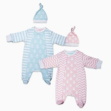 2c583c07c321 Baby s Snuggle Sleepsuit set with hat. Pastel. Fully reversible ...