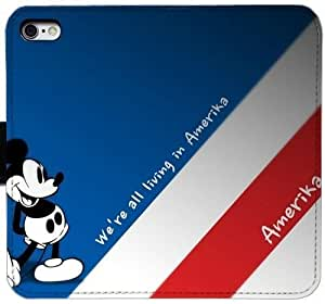 Generic Custom Flip Wallet Case,cartoon mickey mouse disney cute 2560x1920 Leather Case for iPhone 6 6S 4.7 inch Black S-45130822