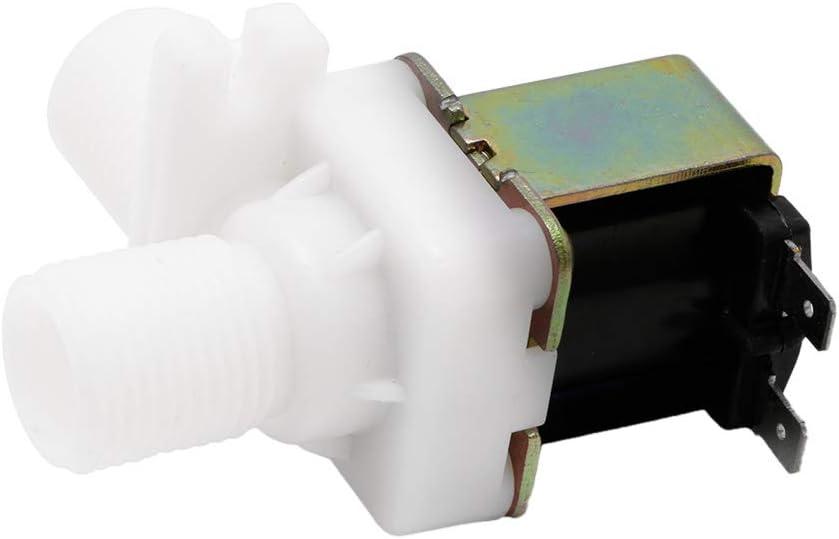 V/álvula solenoide el/éctrica AC 220 V magn/ética N//C v/álvula de entrada de aire de agua 1//2 pulgadas interruptor de flujo