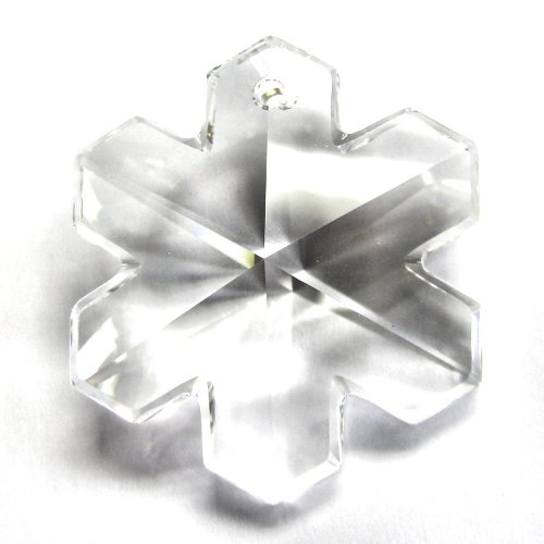 1 pc Swarovski Crystal 6704 Snowflake Charm Pendant Clear 30mm / Findings / Crystallized Element