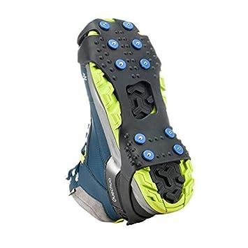 TTYY Griffes crampons chaussures antidérapantes couvercle en acier inox 8 dents ski en plein air randonnée escalade , M