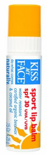 Kiss My Face Organic Sport Natural Sunscreen Lip Balm Stick, SPF 30 UVA/UVB