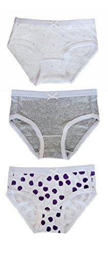 cfb2140ff1a Feathers Girls Cherry Print Tagless Briefs Underwear Super Soft Panties  3-Pack