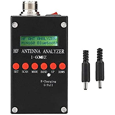 Garsent Antenna Analyzer  Mini60 ANT SWR LCD Display 1-60MHz Antenna Meter Tester 2 0V pp Typical  Adjustable for Ham Radio