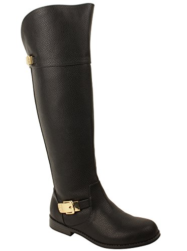 MICHAEL Michael Kors Kids Emma Tara Boots in Black Y5 W US