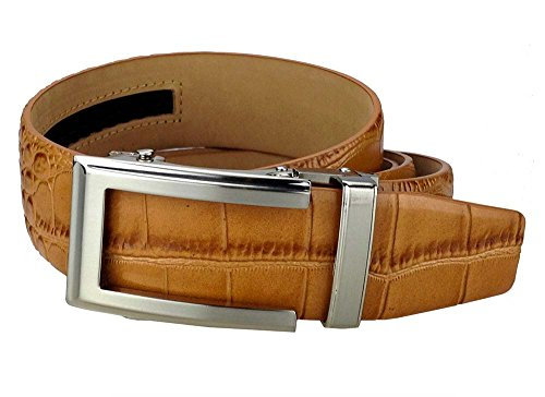 Alligator Dress Belt (NEXBELT REPTILE ALLIGATOR TAN DRESS BELT PCA 1705)