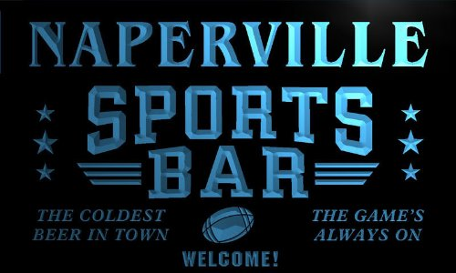 tj2223-b Naperville Sport Bar Beer Pub Club Neon Light for sale  Delivered anywhere in Canada
