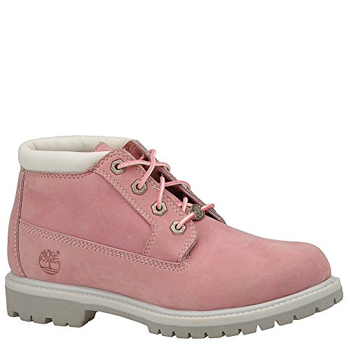Timberland Women's Nellie Double WP Ankle Boot,Pink,7 W US