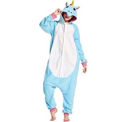 Hstyle Unisex Animal Pajamas Adult Onesie Cosplay Apparel Nightwear Unicorn Small