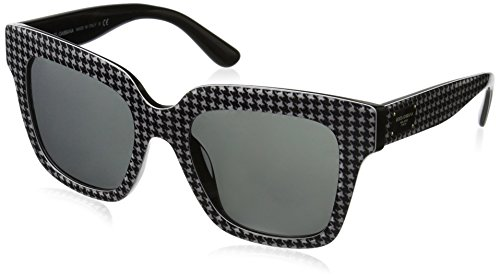 Dolce-Gabbana-Womens-Acetate-Woman-Square-Sunglasses-BlackPrint-Pied-DE-Poule-54-mm