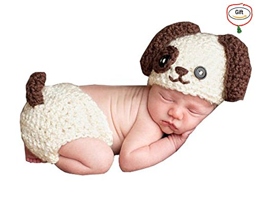 [Baigeda Newborn Baby Boy Girl Clothes Handmade Warm Soft Cashmere Crochet Knit Outfit Set Unisex Baby Cute Infant Costume] (Cute Unique Costumes)