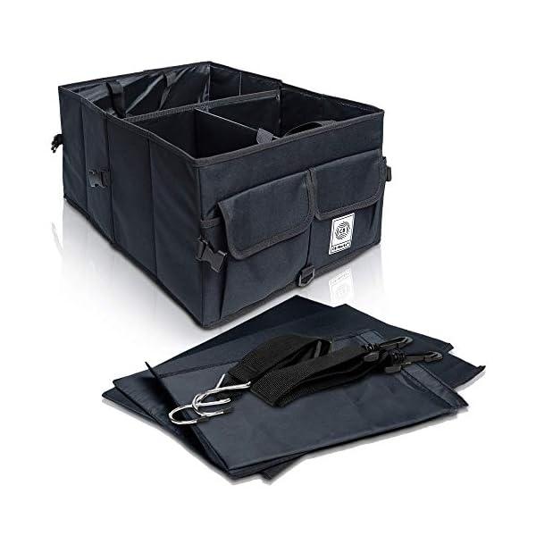 CB-WORKS Kofferraum Organizer Faltbare Auto Tasche, rutschfest mit Klett & extra Spanngurte, Zubehör Aufbewahrung…
