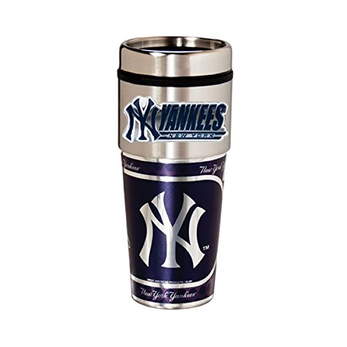 Great American Products New York Yankees 16oz. Stainless Steel Travel Tumbler/Mug ()