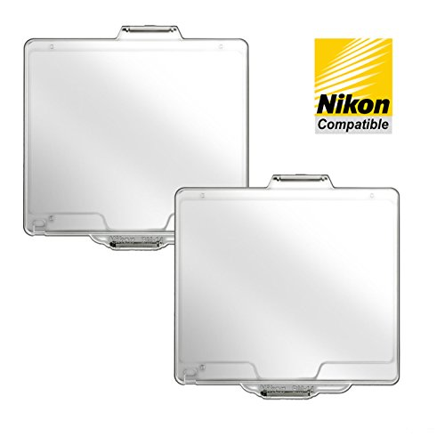 2-Pack BM-14 Optically Clear LCD Monitor Cover for Nikon D600 & D610 DSLR Cameras by Third Party