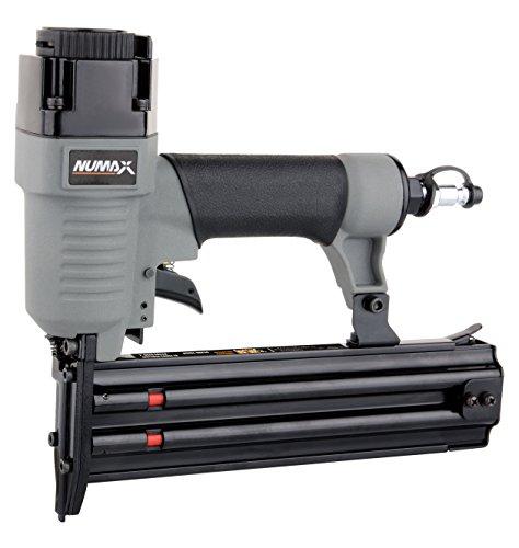 NuMax SBR50 - 18 Gauge Brad Nailer Ergonomic & Lightweight Pneumatic Straight Brad Gun with Reload Indicator for Moulding, Baseboard, Trim, Doors, Handrails