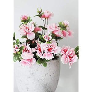 "Floral Home Silk Azalea Bush in Pink - 16"" Tall 79"