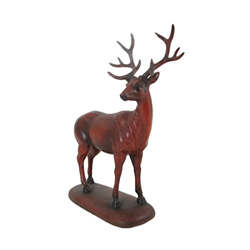 Animal Wildlife Attentive Deer Faux Carved Wood Figurine by WonderMolly (Image #2)