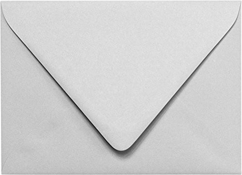 Outer Envelopes - Outer A-7.5 Gray Smoke Solid (Matte) Euro Flap Envelopes (5 1/2