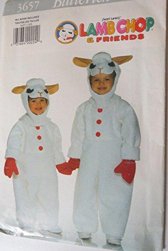 Lamb Chop Costume (Butterick Pattern 3657 Shari Lewis Lamb Chop Costume Vintage Sewing Pattern Size)