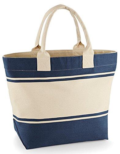 courses cabas marine en sac plage Quadra bleu toile panier shopping QD26 TwOC5qv0