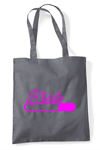 Bag Loading Shopper Grey Personalised Customised Tote Bride Party Do Dark Hen U0Ftq4w6