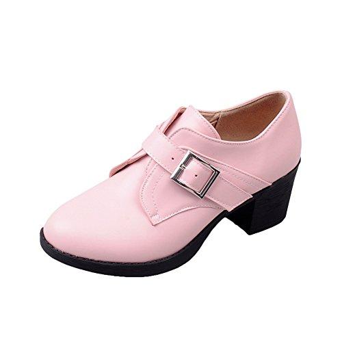 Charm Foot Womens Vintage Chunky Heel Ankle Booties Pink