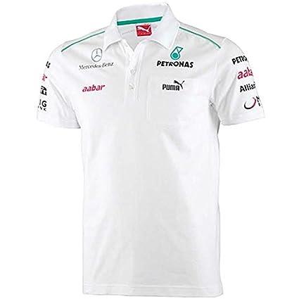 Mercedes Polo MB. AMG Petronas Blanco Talla S: Amazon.es: Coche y moto