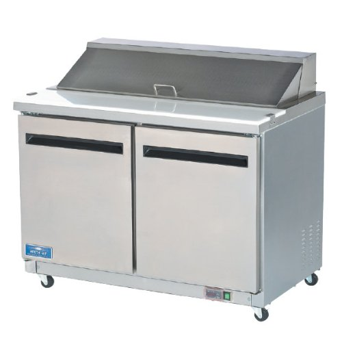 Arctic Air AMT60R 61.25-Inch 2-Door Mega Top Refrigerated Sandwich/Salad Prep Table, 115v