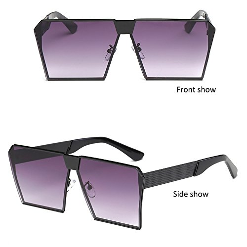 Shopping Lens Men Frame Glasses Protection Fashion Mirror Purple 400 For Square Oversized Fishing Black UV Flat Driving Outdoor Women Unisex Party Sports Climbing Travelling Frame Metal Lens Gradient for Anti Sunglasses qq0w4v