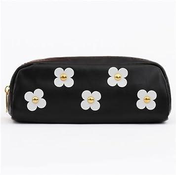 Mind Wave Lindo estuche para lápices negro flor blanca tachuela dorada: Amazon.es: Juguetes y juegos