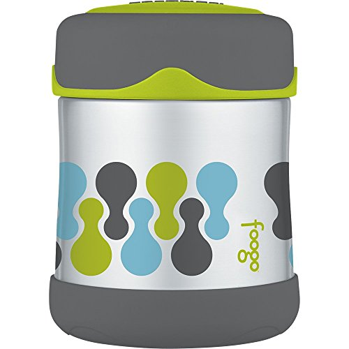 THERMOS FOOGO Vacuum Insulated Stainless Steel 10-Ounce Food Jar, Tripoli Pattern by Thermos