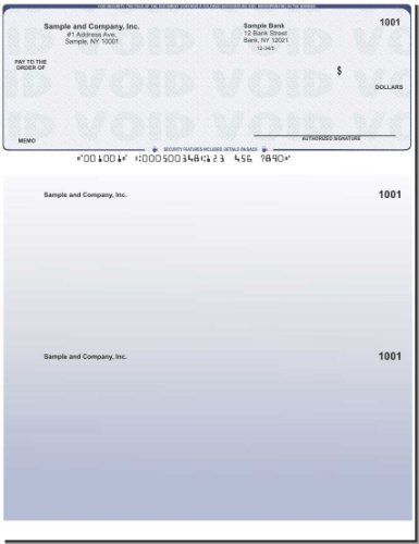 Quickbooks Checks - 100 Printed Laser Computer Voucher Checks