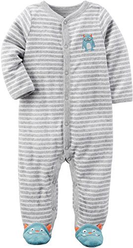 Carter's Baby Boys' Striped Monster Sleep & Play 9 Months