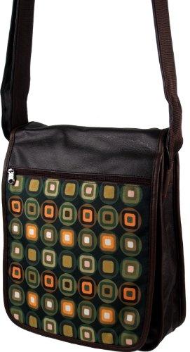 Guru-Shop 70`s up Retro Schultertasche, Herren/Damen, Mehrfarbig, Synthetisch, Size:One Size, 35x30x7 cm, Tragetasche, Umgängetasche