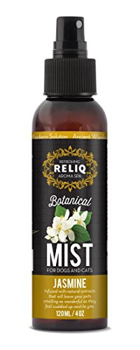 RELIQ Aroma SPA Jasmine Botanical Mist Cologne for Dogs and Cats. Spray on The Coat After Bath to give Your Dog a Clean & Fresh Smell. Infused with Natural extracts, Calming and comforting Your Pets.