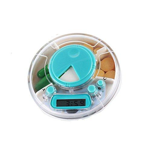 Discoo Portable 3 Compartments Alarm Clock Pill Dispenser Alarm Clock Pill Dispenser Pill Box Electronic Medication Reminder