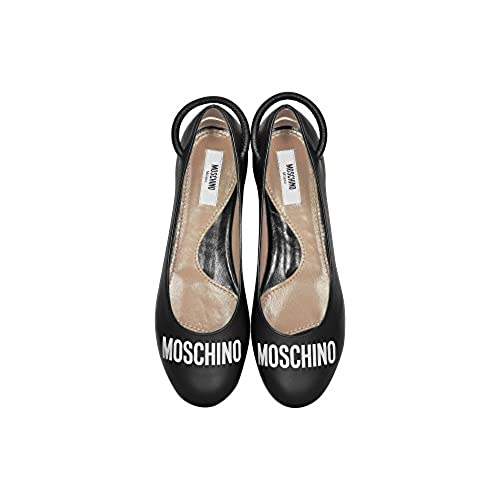 Moschino Women's MA11100M04MA500A Black Leather Flats 70%OFF
