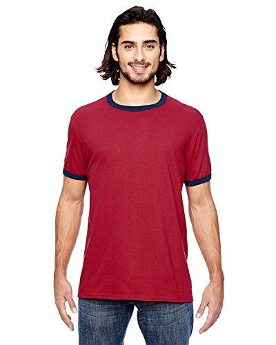 A Product of Anvil Adult Lightweight Ringer T-Shirt -Bulk Discount Saving