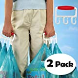 The Baggler Bag Carrier, makes carrying bags easier and comfortable - 2 Pack
