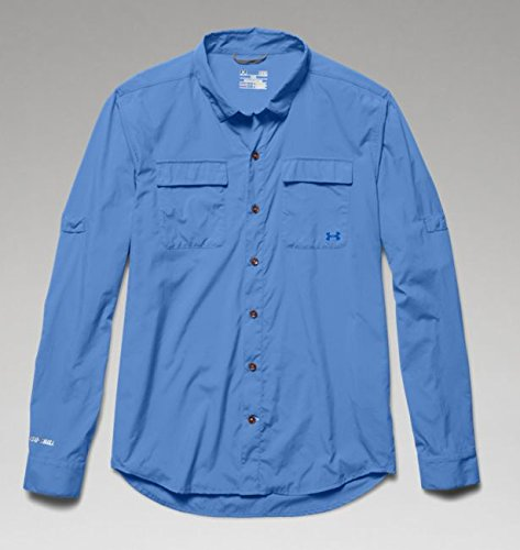 Under Armour Men's UA Iso-Chill Flats Guide Long Sleeve Shirt Ceylon/Moon Shadow Button-up Shirt ()