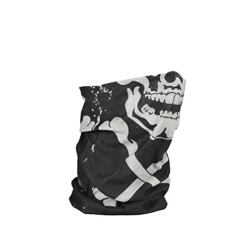 Zan Headgear T227, Motley Tube, Polyester, Skull and Crossbones