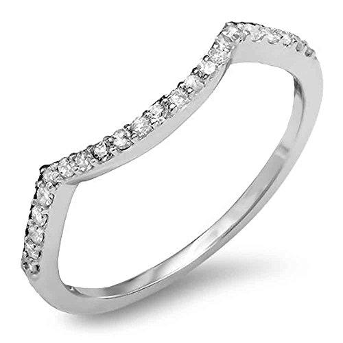 015-Carat-ctw-14K-Gold-Round-Diamond-Ladies-Wedding-Stackable-Contour-Guard-Ring