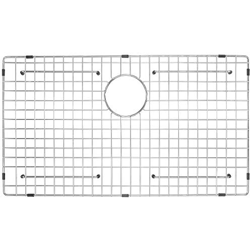 "Serene Valley Sink Grid NDG2416, dim 23 5/8"" x 15 11/16"", Fit Hand-Made Sink Bowl Size 24"" x 16"", Rear Drain with Corner Radius R5"