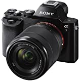 Sony 24.3 MP a7K ILCE-7K/B ILCE7KB Full-Frame Interchangeable Digital Lens Camera with 28-70mm Lens + Sony Class 10 64GB SDXC Memory Card + Replacement NP-FW50 Two Batteries and Charger + Tiffen 55mm UV Protector Filter & Circular Polarizer + Accessory Kit