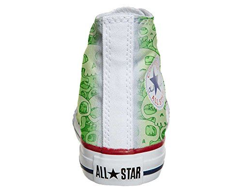 mys Converse All Star Customized - Zapatos Personalizados (Producto Artesano) Green Skull