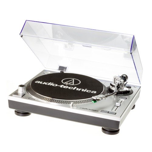 Audio Technica AT-LP120USB – Tocadiscos para equipo de audio, plateado