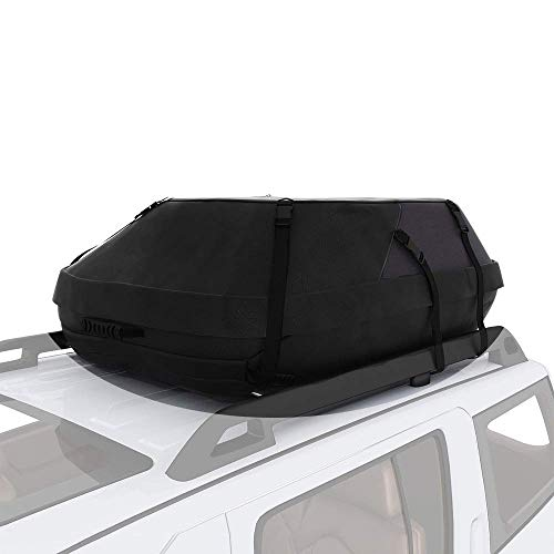 adakiit Car Roof Bag Top Carrier Cargo Storage Rooftop Luggage Waterproof Soft Box Luggage Outdoor Water Resistant for Car with Racks,Travel Touring,Cars,Vans, Suvs (16.7 Cubic Feet)