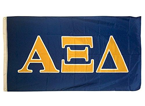 Cheap Alpha Xi Delta Letter Sorority Flag Greek Letter Use as a Banner Large 3 x 5 Feet Sign Decor alpha zee