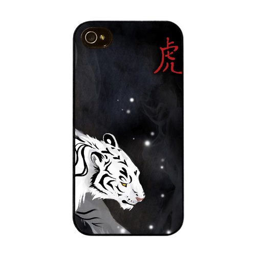 Diabloskinz H0026-0015-0003 Whitetiger Schutzhülle für Apple iPhone 4/4S