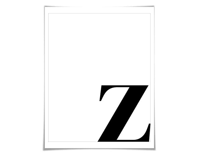 Letter Art Print.Amazon Com Custom Monogram Single Letter Initial Art Print